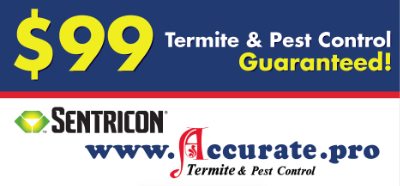 $99 Termite and Pest Control Guarentee banner